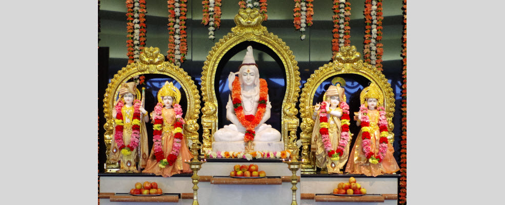 Lord Siva, Rama and Krsna